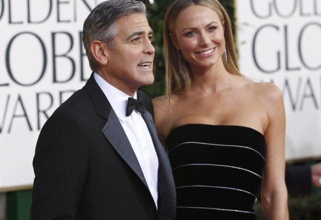 George Clooney in Stacy Keibler  (foto: Reuters)