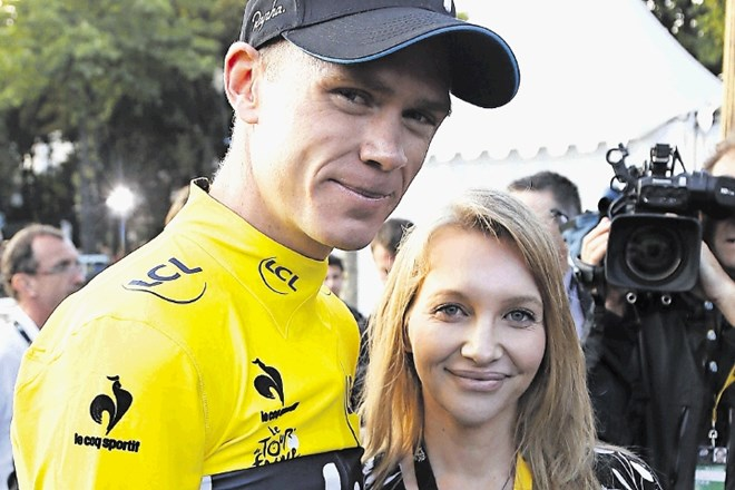 Chris Froome z ženo Michelle