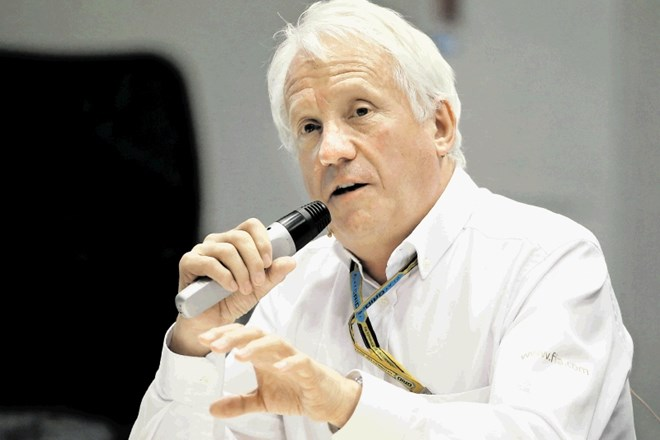 FILE PHOTO: FIA Formula One Race Director Charlie Whiting speaks during a press briefing regarding Japanese Grand Prix at the...