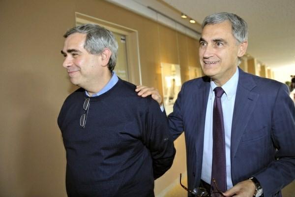 Image result for Antonio Ereditato and Dario Autiero