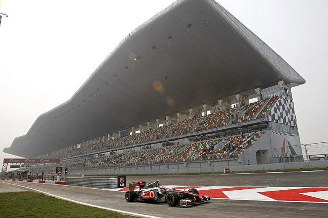 Dikališče Buddh International Circuit v bližini New Delhija.
