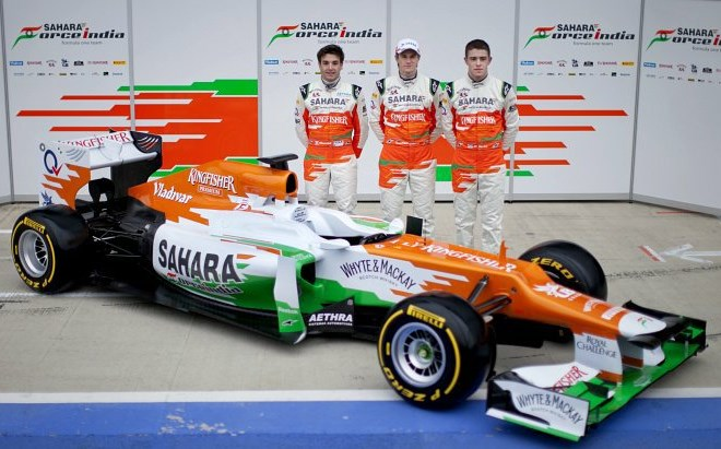 Nov dirkalnik moštva Force India.