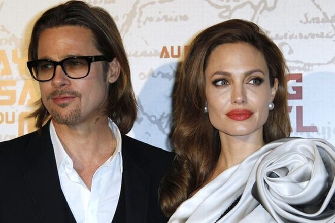 Brad Pitt in Angelina Jolie.