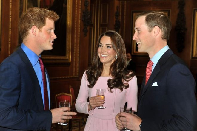 Harry, Kate in William.