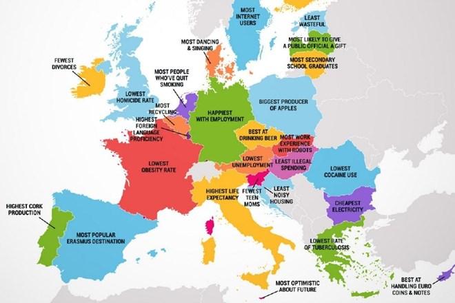 digitalna mapa evrope V čem so najboljše posamezne države v Evropi? | Dnevnik digitalna mapa evrope