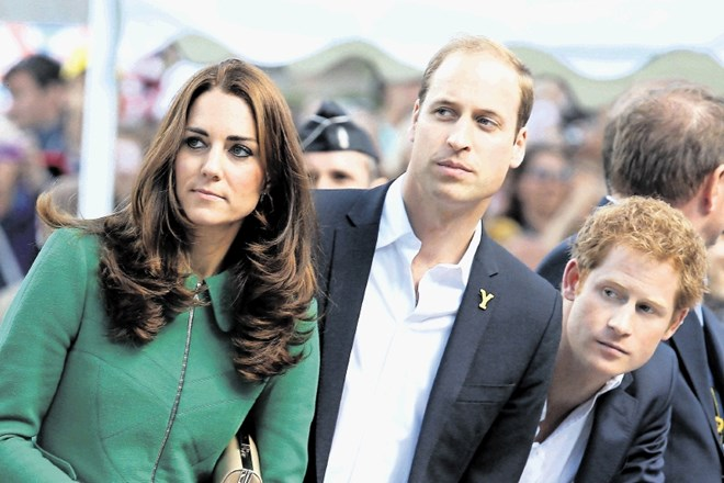 Kate, William in Harry