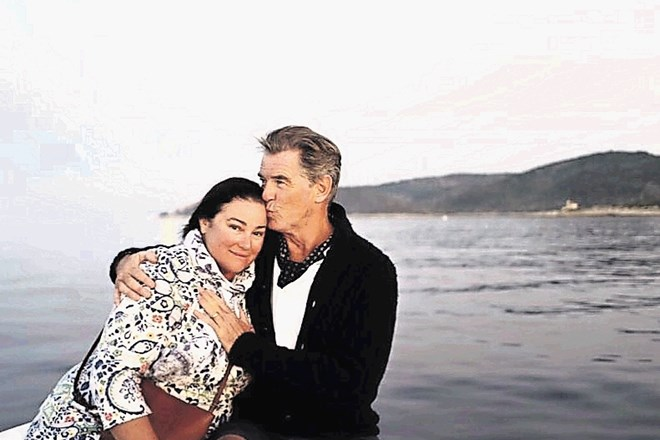 Pierce Brosnan z ženo Keely Shaye Smith na Visu