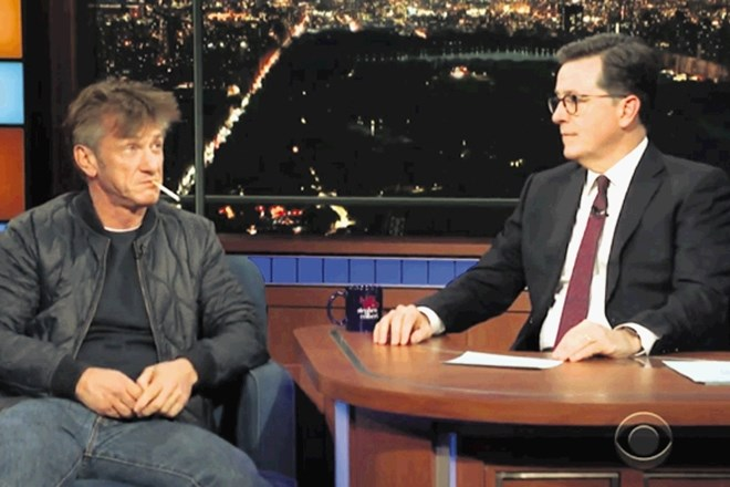 Sean Penn in Stephen Colbert