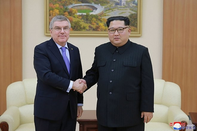 Thomas Bach in Kim Jong Un