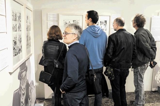 Razstava, ki so jo sinoči odprli v Narodni galeriji, je doslej največja razstava izvirnih tabel stripa Alan Ford na svetu...