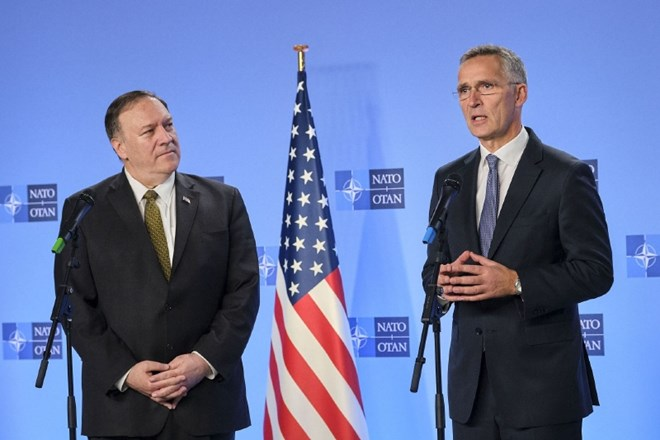 Mike Pompeo in Jens Stoltenberg