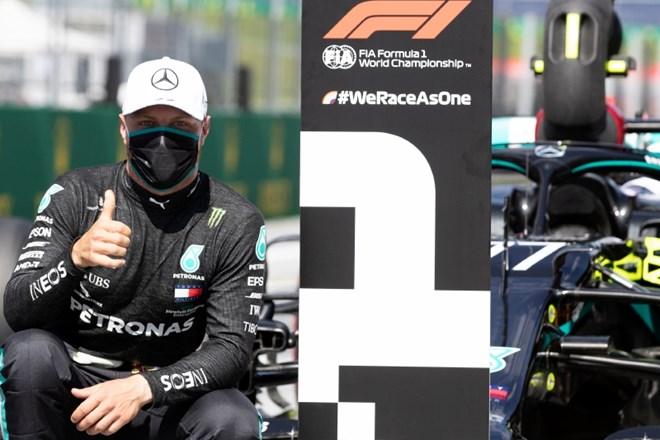 Valtteri Bottas se je razveselil prvega najboljšega startnega položaja v novi sezoni.