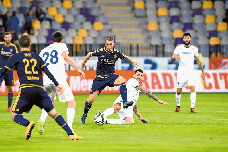 Agim Ibraimi had a good game; photo: dnevnik.si