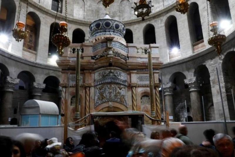 V Jeruzalemu odkrili prenovljeno Jezusovo grobnico