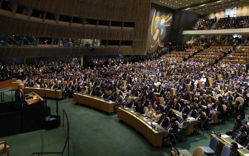 Trumpov govor v skupščini ZN tarča kritik nekaterih voditeljev