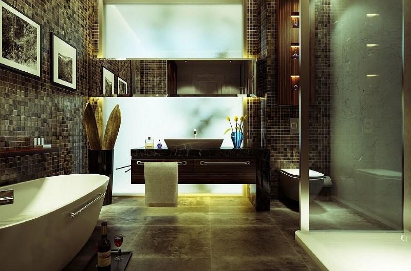 Povzdignite dizajn kopalnice z razkošnimi talnimi in stenskimi oblogami