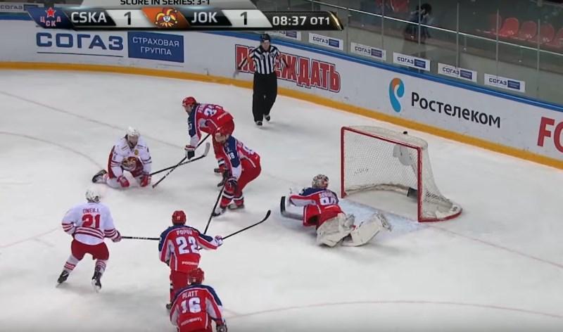 #video CSKA in Jokerit igrala kar 142 minut, tekma je bila odločena v petem podaljšku