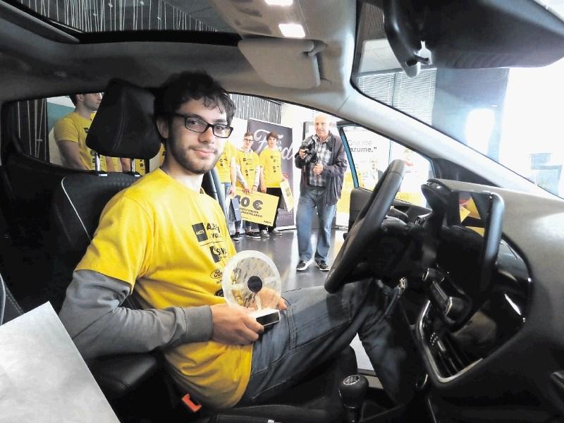 Akcija AMZS Mladi voznik: zmagovalec je Klemen iz Prlekije