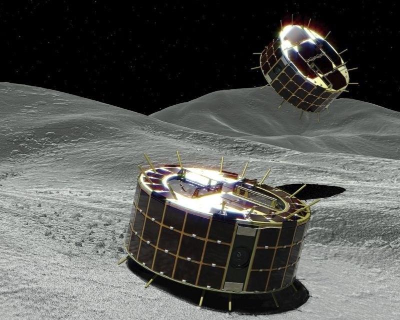 Japonska roverja uspešno pristala na asteroidu