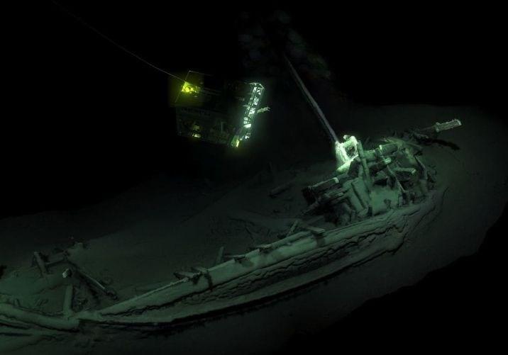 V Črnem morju odkrili doslej najstarejšo nedotaknjeno ladjo