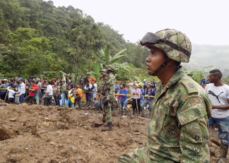 V zemeljskem plazu v Kolumbiji najmanj 17 mrtvih