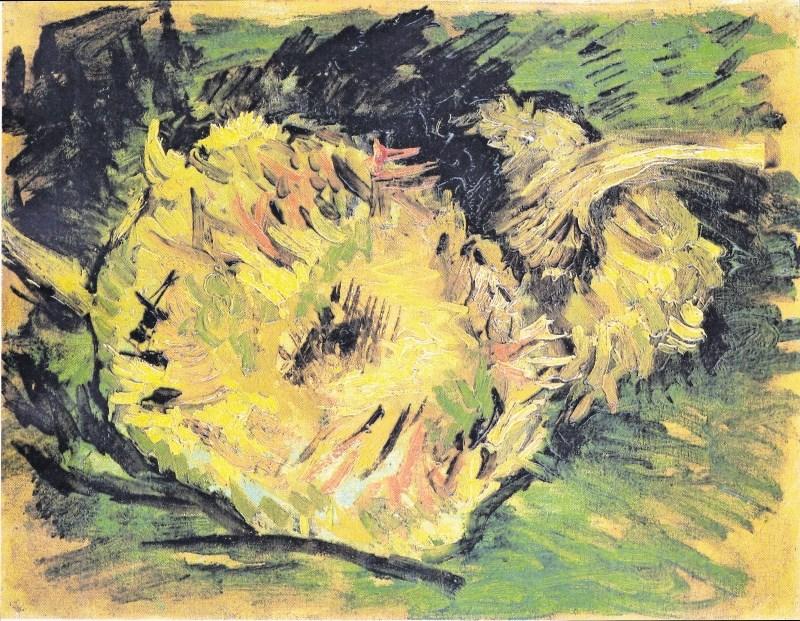 Van Goghove sončnicev novih barvah