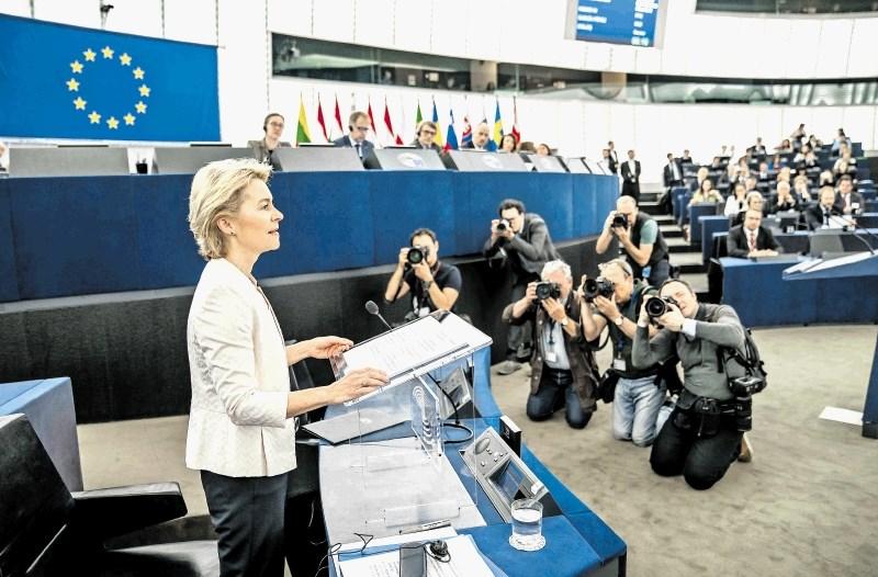 Von der Leynova za mišjo dlako postala prva predsednica evropske komisije