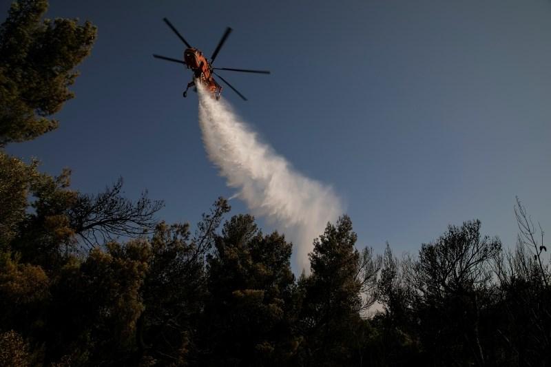 Blizu kraja lanskega smrtonosnega požara v Grčiji izbruhnil gozdni požar