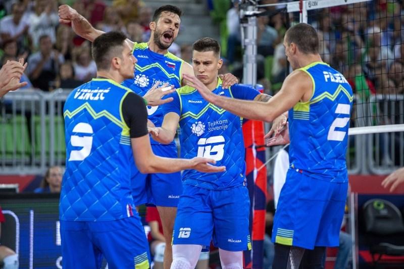 Slovenski odbojkarji še tretjič na EP zmagali, tokrat s 3:0 Turčijo