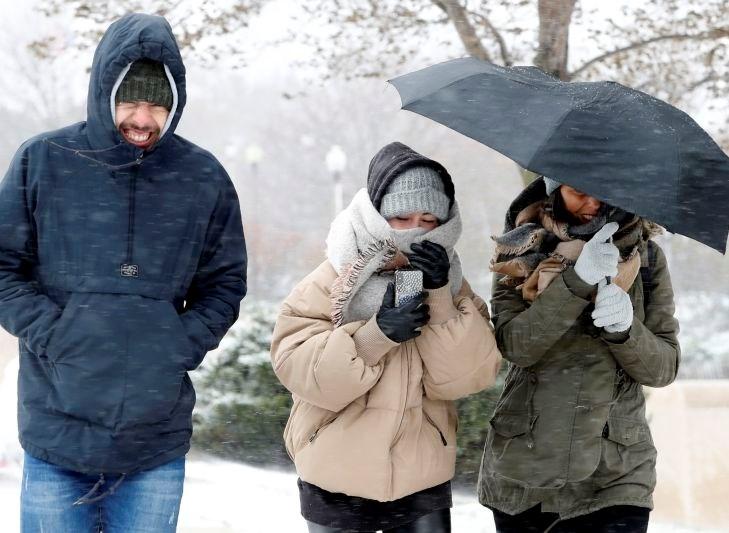 #foto Osrednji del ZDA zajela zima