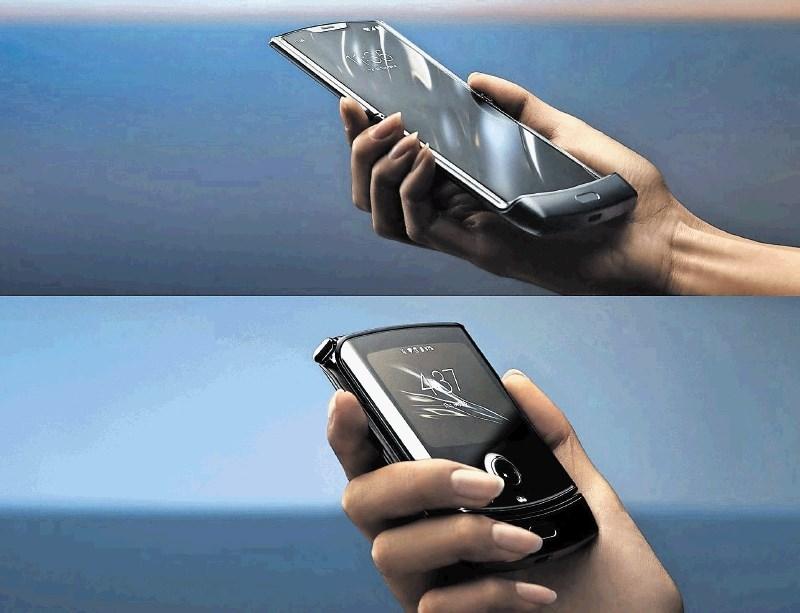 Pregibni zaslon za manjši namesto večji telefon