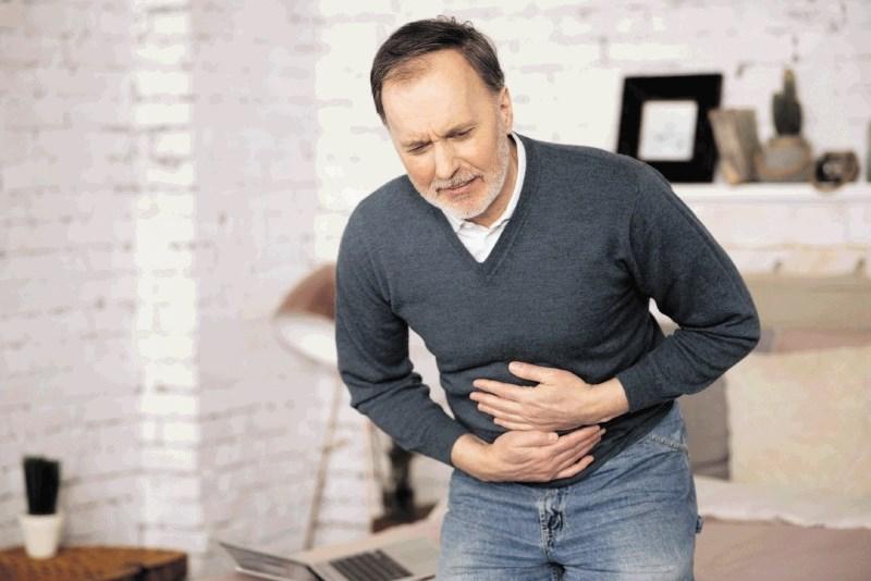Razjeda želodca in dvanajstnika: Bolečina v zgornjem delu trebuha