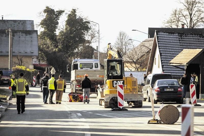 V Britofu danes nadaljujejo testiranje saniranega plinovoda