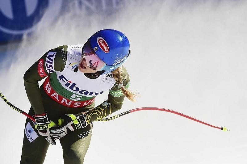 Mikaela Shiffrin zmagovalka superveleslaloma v Banskem