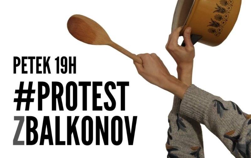 V petek protest z balkonov