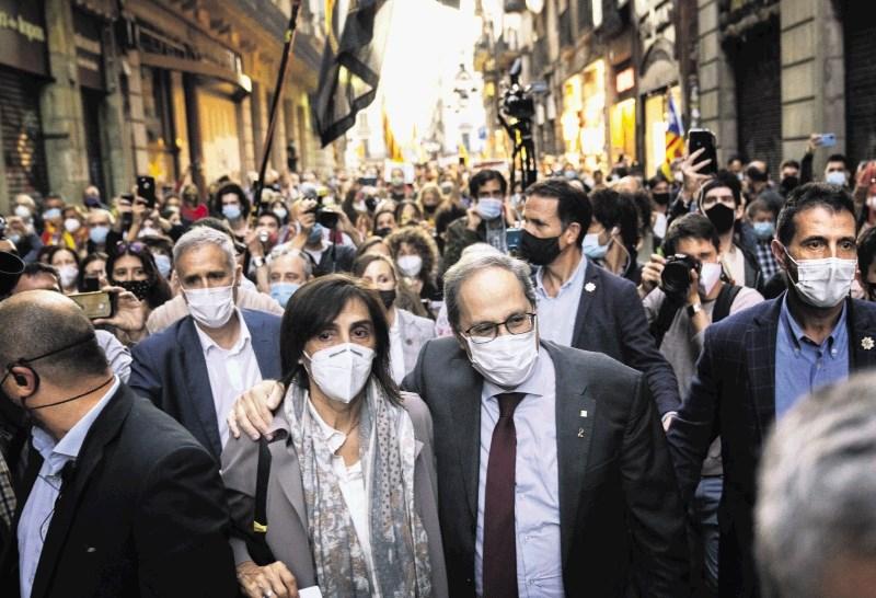 Sodišče Kataloniji vzelo predsednika