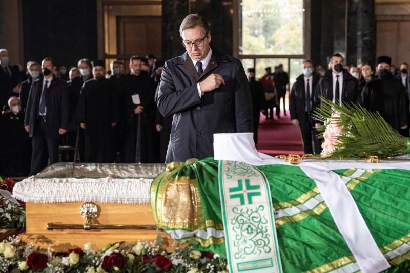 V Srbiji so se poslovili od patriarha Srbske pravoslavne cerkve Irineja