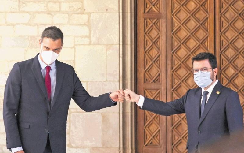 Včeraj obnovljeni dialog o Kataloniji je že sam zase uspeh