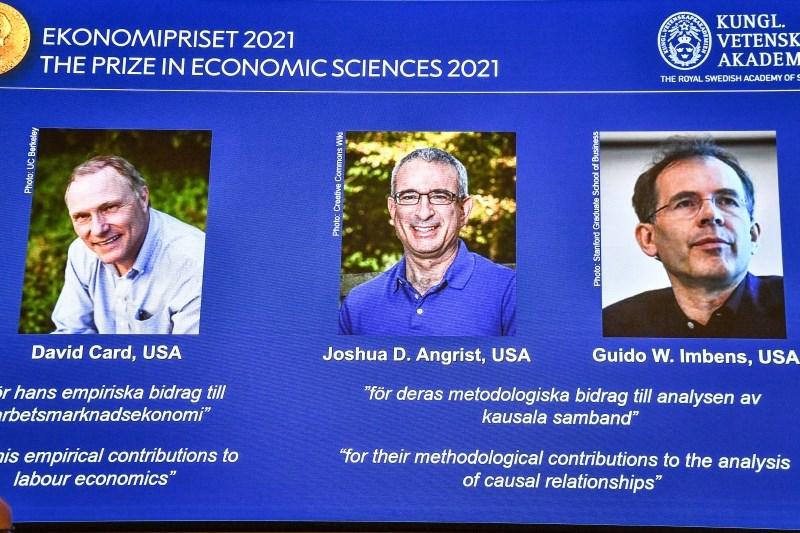 Nobelova nagrada za ekonomijo znanstvenikom za prispevke na področjih ekonomike dela in vzročnih razmerij