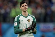 Belgijski vratar Courtois v Real Madrid
